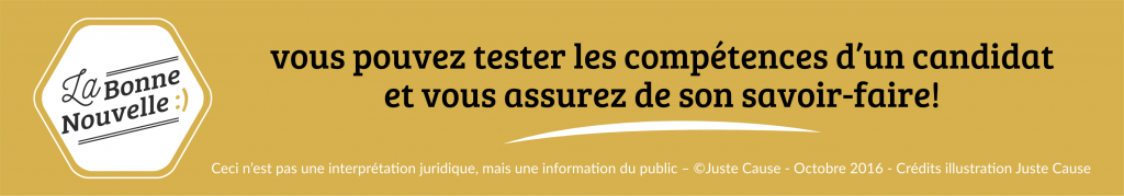 infographie juridique Juste Cause test candidat