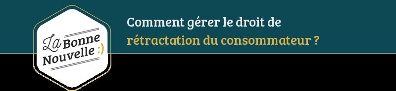 infographie juridique rétractation consommateur