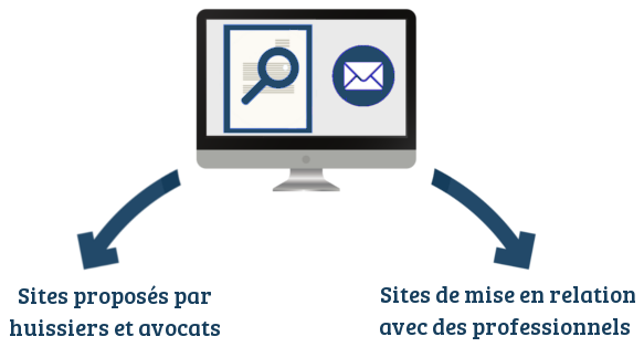 sites recouvrement creance huissiers avocats legal design juste cause