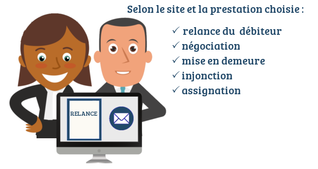 site recouvrement creance legal design juste cause